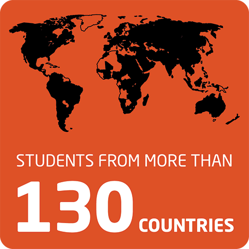 Students from more than 130 countries studied at the OSU campus